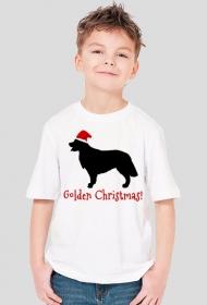 Chłopięca świąteczna koszulka - Golden Retriever