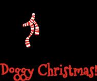 Męska świąteczna koszulka SLIM - biała - Owczarek niemiecki