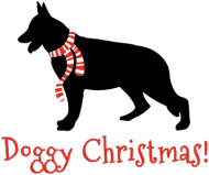 Świąteczny kubek z czerwonym uchem - Owczarek Niemiecki
