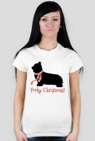 Damska świąteczna koszulka - biała - York