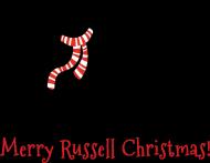 Męska świąteczna bluza (kaptur) - biała - Russell Terrier