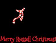 Dziewczęca świąteczna koszulka - Russell Terrier