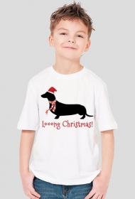 Chłopięca świąteczna koszulka - Jamnik