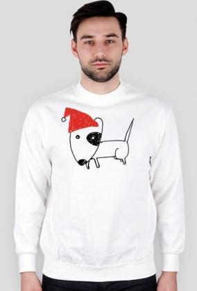 Męska świąteczna bluza - biała