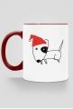 Świąteczny kubek 1-stronny z czerwonym uchem