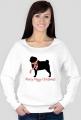 Damska świąteczna bluza - Mops