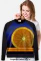 Orange Full Print lekka bluza