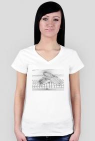 t-shirt w serek: pointy
