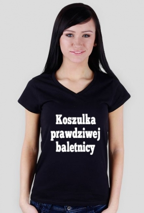 t-shirt: koszulka prawdziwej baletnicy black