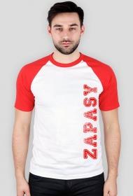 koszulka zapasy biało czerwona