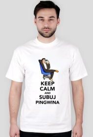 Pingwin Keep Calm - Biala [M]