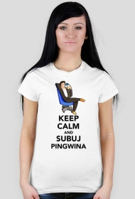 Pingwin Keep Calm - Biala [F]