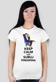Pingwin Keep Calm - Biala [F]