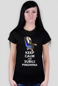Pingwin Keep Calm - Czarna [F]