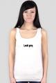 Laski górą- Koszulka na ramiączkach biała