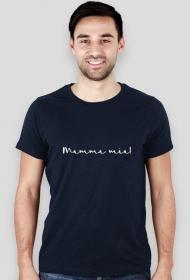 Mamma mia czarny/granatowy tshirt męski