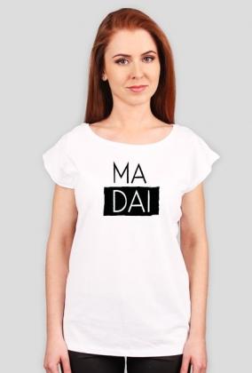 Ma dai Biały/szary Tshirt