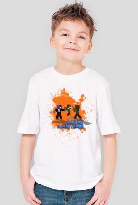 DZIECIĘCA - Biała z Pomarańczowym
