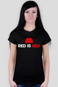 Red is Bed - Damski T-shirt