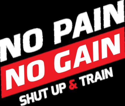 BStyle - No Pain No Gain (Bluza do ćwiczeń, siłownia)