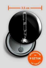 button Pen Lover - czarny