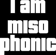 Koszulka I am misophonic Damska Black