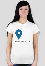 Koszulka Współrzędne White