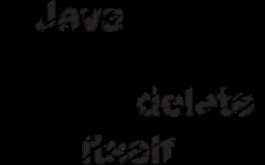Kubek Java deletes itself :)