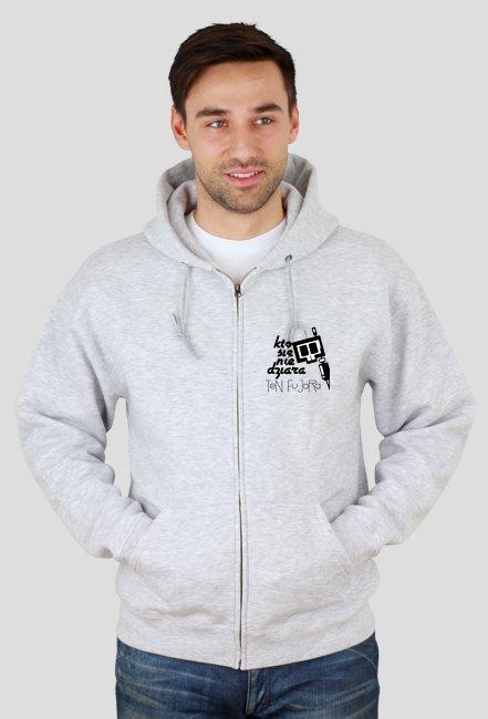 KSNDTF małe logo bluza rozpianana Grey