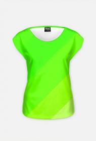 bluzka damska zielono biała