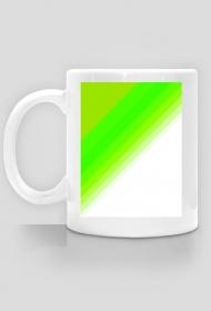 kubek zielono biały
