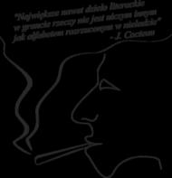 Poszewka na poduszkę - Cytat Cocteau
