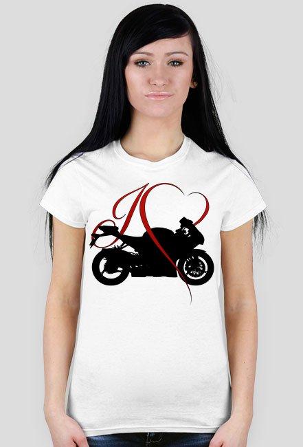 I love moto - koszulka damska