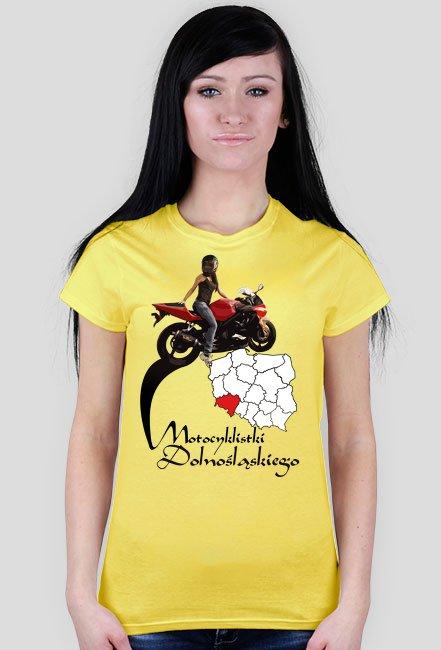 Motocyklistki dolnośląskiego - koszulka damska