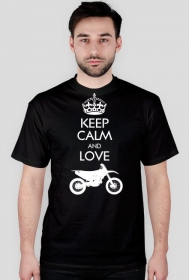 Keep calm and love enduro - koszulka motocyklowa