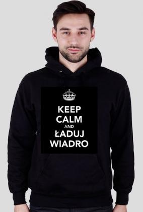 "Bluza męska czarna ""Keep calm and ładuj wiadro"""