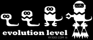 evolution level - ryjoo - km - b/w/r