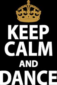 Keep Calm And Dance Żółta