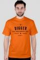 T-Shirt - Digger męski/pomarańczowy
