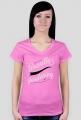 T-Shirt Guerrillagardening.pl damski/różowy