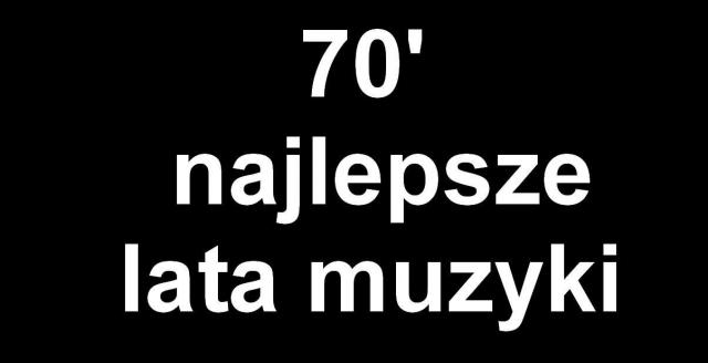 lata 70' (Męska) - czarna
