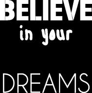 t-shirt czarny believe in your dreams
