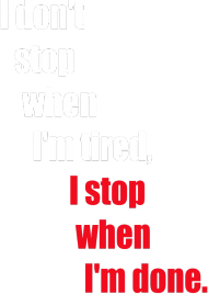 I DON'T STOP!