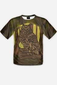 owl steampunk, fullprint - man