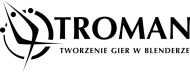 Kubek troman logo white-black