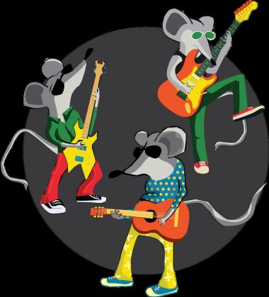 Gitarowe Myszy - bluza męska z kapturem