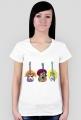 Gitara w trzech odsłonach - koszulka damska