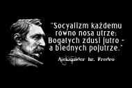 Fredro: Socyalizm każdemu równo nosa utrze...