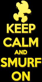 Keep Calm and Smurf on (eko bag)