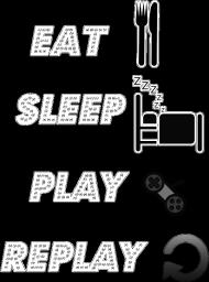 EAT , SLEEP, PLAY , REPLAY - Koszulka damska